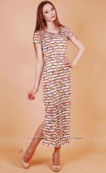 Длинное платье-футболка Платье макси 2 модели Хит сезона