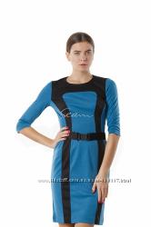 Трикотажное платье блочной расцветки 2 модели Seam Rebecca Tatti