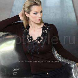 Шикарный французский джемпер свитер Eden Rose Распродажа