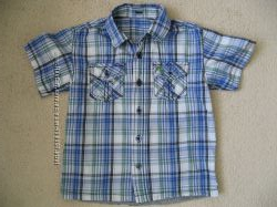 Яркая рубашка с коротким рукавом Rebel англия 3-4г 104см