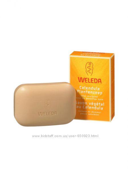 Weleda Растительное мыло для детей с календулой в наличии Веледа детское