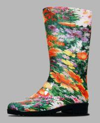 Модные резиновые сапоги со семным утеплителем