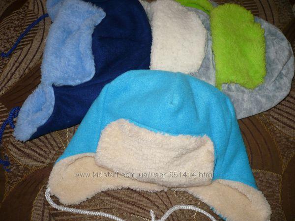 Утеплені флісові шапочки до року