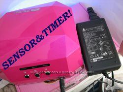 УФ лампа гибридная сушка для наращивания ногтей 36Вт сенсор таймер
