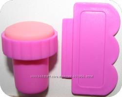 Штамп и шпатель для стемпинга набор для дизайна ногтей