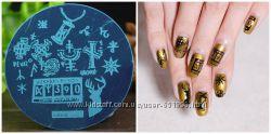 Диск трафарет для стемпинга печать на ногтях