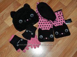 шапкашарфперчатки с котиками