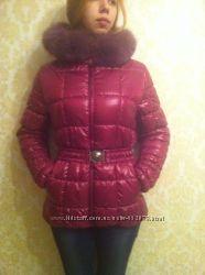 Классная куртка с шикарным мехом Подойдет  на подростка