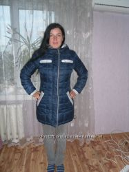 Классная фирменная двухсторонняя куртка-пуховик Сова.