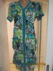 Красивые летние халаты на женщин разные цвета и модели р. 46-58