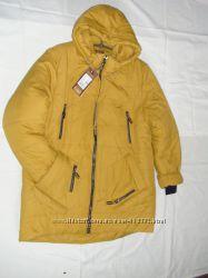 Зимняя куртка модный цвет Горчица в налич р. 54, 58, 60, 62