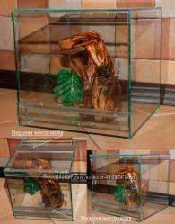 Стеклянный террариум для пауков, скорпионов, ящериц