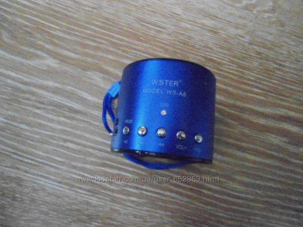 Портативная колонка MP3 от USB FM  WS-A8, А-9