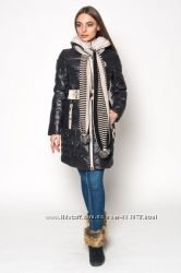 Зимняя куртка  Kapre шарф  S-2XL Эко-пух