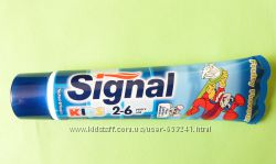 Зубная детская паста со вкусом фруктов Signal KIDS 2-6 лет. Страна производ