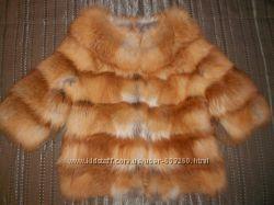 Продам куртку из лисы с оригинальным воротом