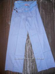 Продам летние брюки из натурального хлопка для беременной