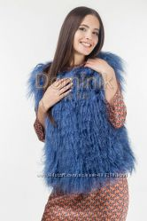 Продам стильные жилетки из меха ламы