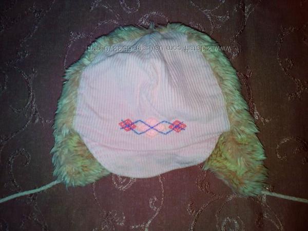Теплая зимняя шапка для девочки Raster размера 50-52