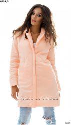Нове пальто ПЕРСИКОВОГО кольору
