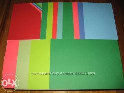 Цветная бумага и картон для творчества и рекламы. Разная плотность.