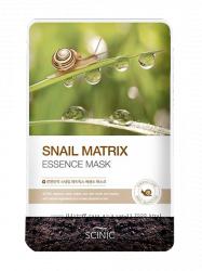 Тканевая маска с муцином улитки Scinic Snail Matrix Essence Mask