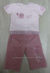 Футболка и вельветовые штаны фирмы Wojcik размер 74