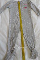 Продам хлопковый слипер Carter&acutes размер18м серая