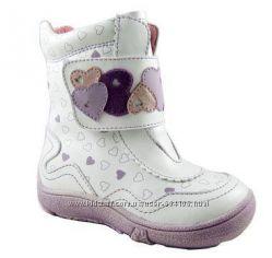 Зимние кожаные ботиночки сапожки для девочек тм Фламинго р. 21-26