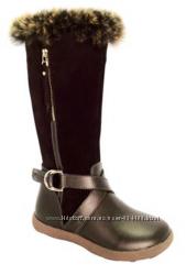 Кожаные сапожки сапоги для девочки тм Фламинго р. 27-32