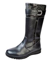 Зимние кожаные сапожки сапоги для девочки тм Фламинго р. 31-36