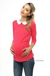 Футболка для беременных с длинным рукавом синяя, красная