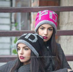 теплая зимняя шапка 2016-2017