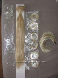 Трессы длина 68 см блонд на типсах
