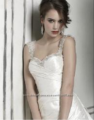 Свадебное шёлковое платье от Justin Alexander
