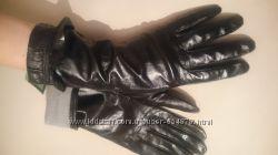 Женские кожаные перчатки. Италия.