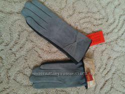 Продам кожаные перчатки лайка верх замша