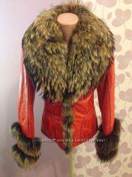Кожаная куртка с натуральным мехом Apache 40 размер