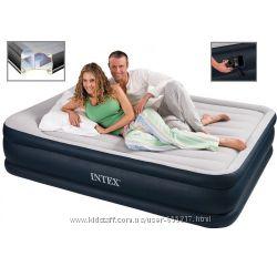 Надувная кровать Intex со встроенным электронасосом 203х152х48 см 67738