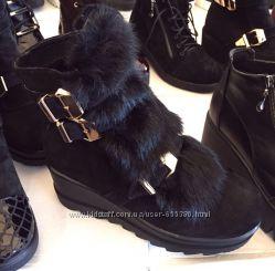 Зимняя кожаная обувь натуральная кожа