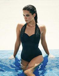 Сдельный чёрный купальник , бренд, 36F, G -Л-ХЛ