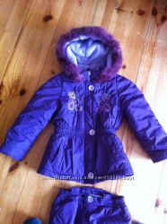 Зимняя куртка т комбинезон на девочку
