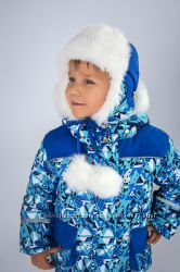 Зимняя шапка для мальчика Геометрия
