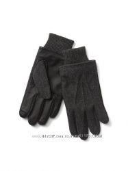 Мужские перчатки GAP, размер L-XL, кожа шерсть.