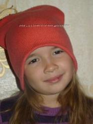 Стильненькая шапка чулок на девочку