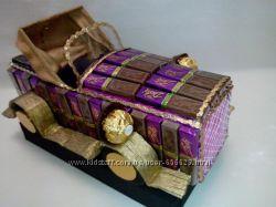машина из конфет ретро-автомобиль