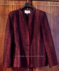 Пиджак женский с топом импортный, модного цвета бордо, разм. 54