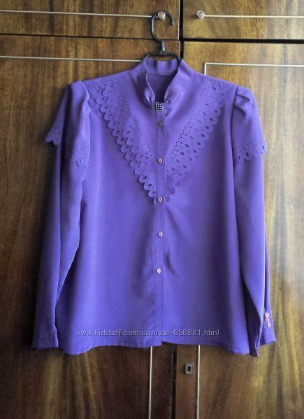 Блуза женская, импортная, новая, фиолетовая, размер 46