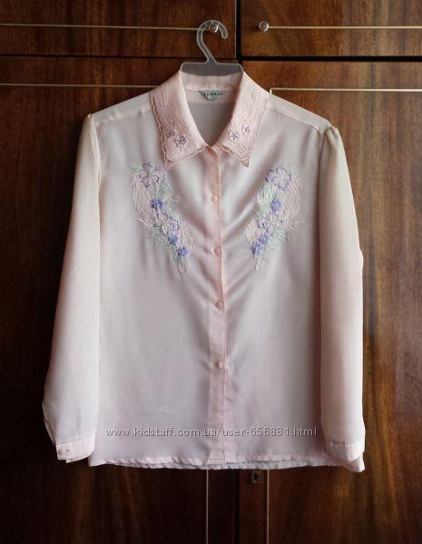 Блуза женская импортная, новая, светло-розовая, размер 46