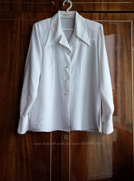 Блуза женская, импортная, белая, разм 46-48.